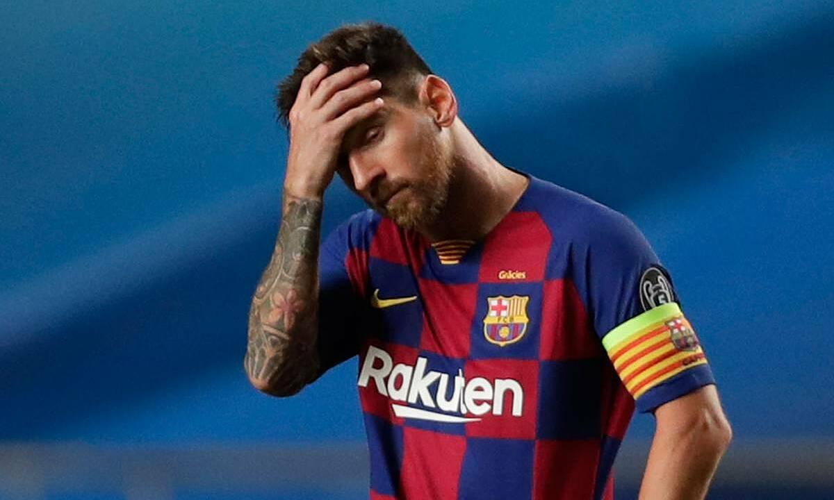 Messi là cầu thủ Barca duy nhất vắng mặt ở buổi xét nghiệm PCR sáng 30/8. Ảnh: Reuters