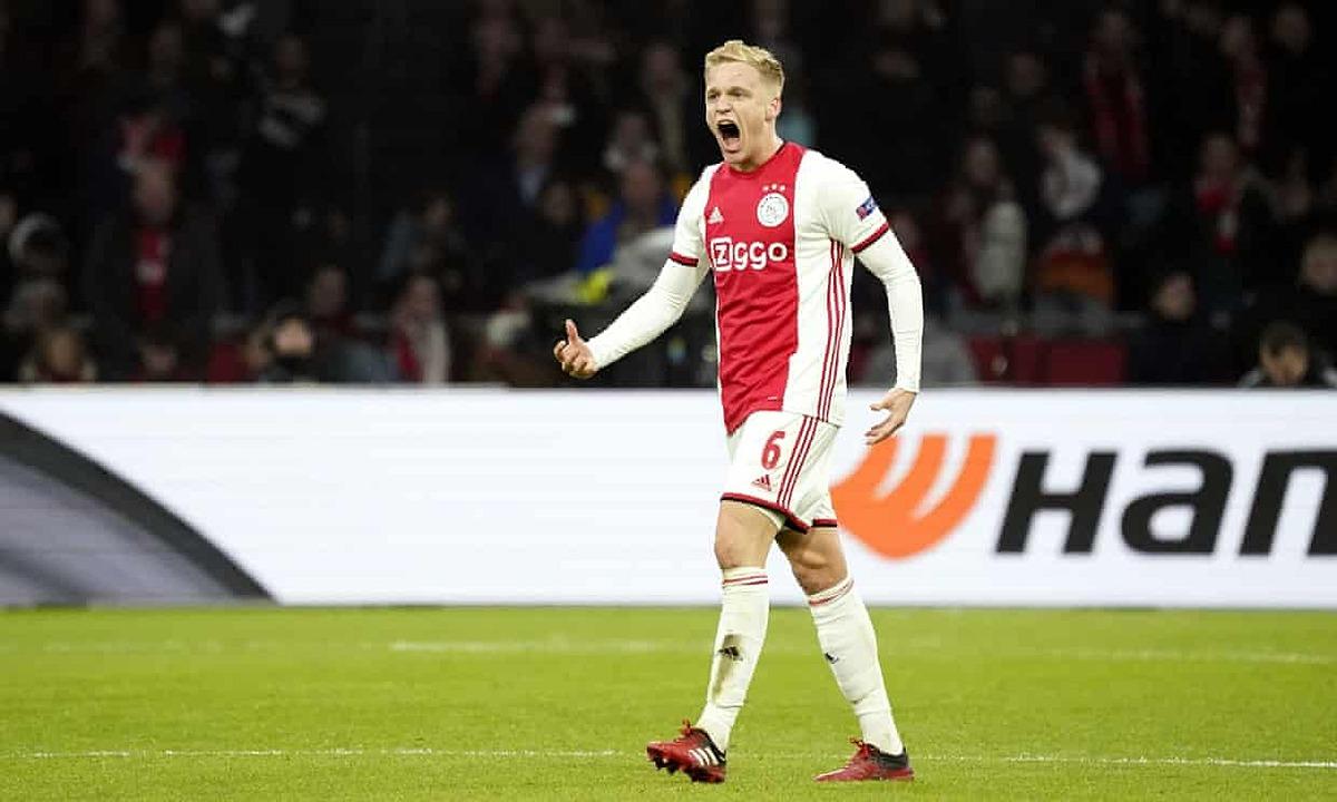 Van de Beek là tân binh đầu tiên của Man Utd hè 2020. Ảnh: Reuters