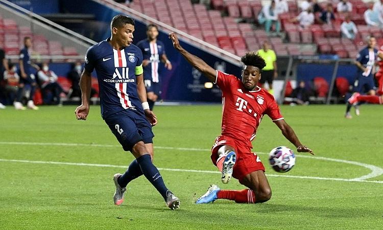 Thiago Silva trong trận chung kết Champions League gặp Bayern vào ngày 23/8. Ảnh: AP.