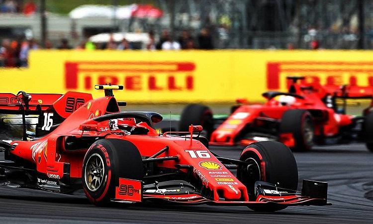 Hai chiếc xe Ferrari gây thất vọng khi để những đối thủ yếu hơn qua mặt ở GB Bỉ hôm 30/8. Ảnh: XPB.