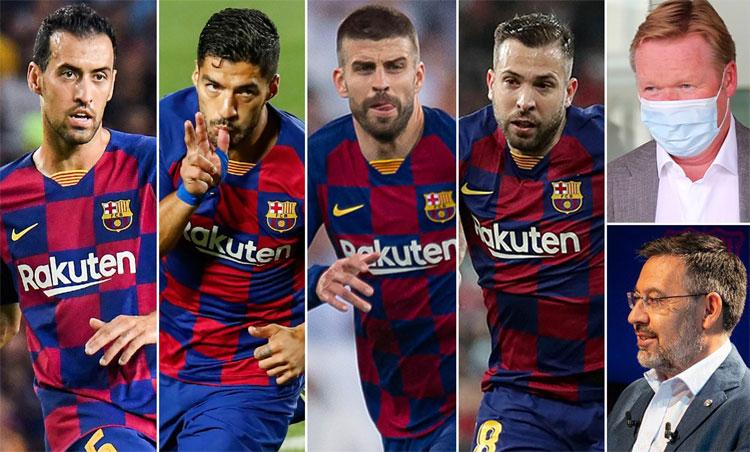 Barca sẽ thay máu thời gian tới, khi những cầu thủ luống tuổi phải nhường chỗ cho người trẻ. Ảnh: Reuter, EFE.