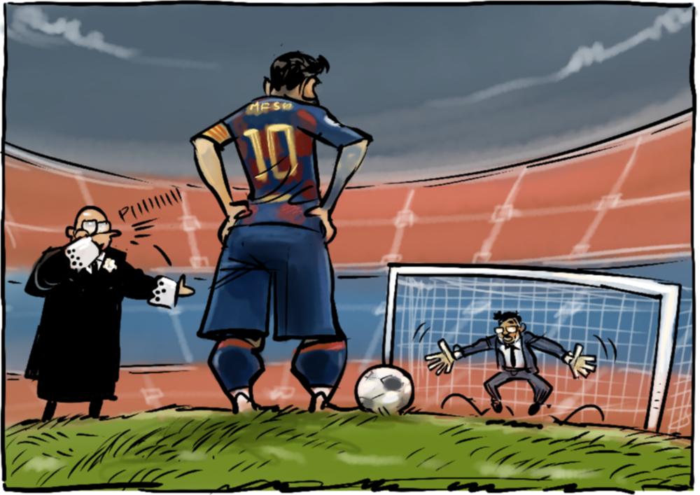 Messi đối đầu Bartomeu.