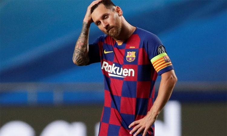 Messi khó lòng rời Barca sớm như mong muốn, ngay cả khi tự thấy chu kỳ thành công của bản thân đã hết. Ảnh: Reuters.