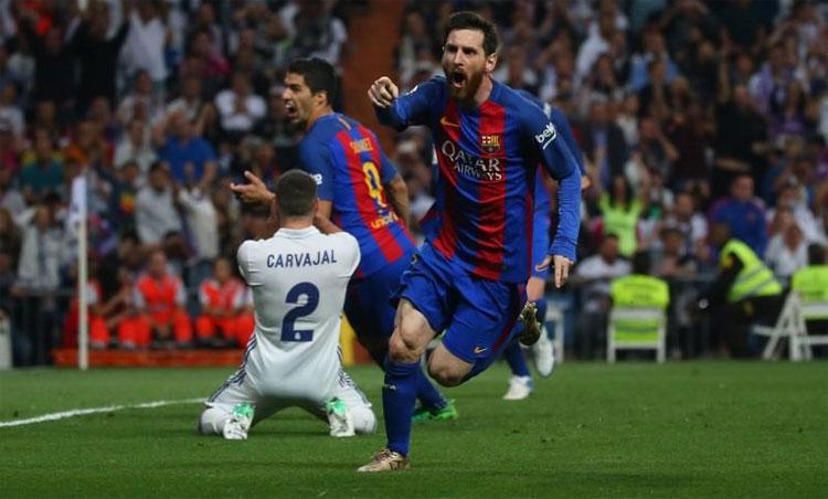 Messi sở hữu hàng chục kỷ lục, gồm cả kỷ lục ghi 26 bàn trong các trận El Clasico. Ảnh: Reuters.