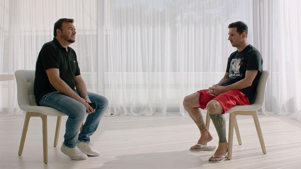 Messi trong cuộc trả lời phỏng vấn tờ Goal (Italy).