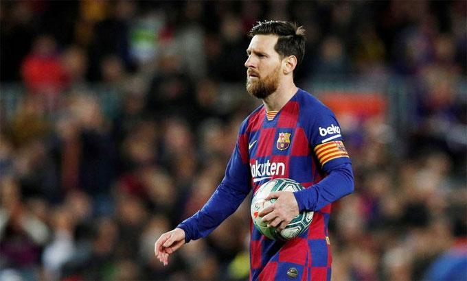 Messi sẽ thi đấu ít nhất đến hết hợp đồng vào tháng 6/2021. Ảnh: Reuters.