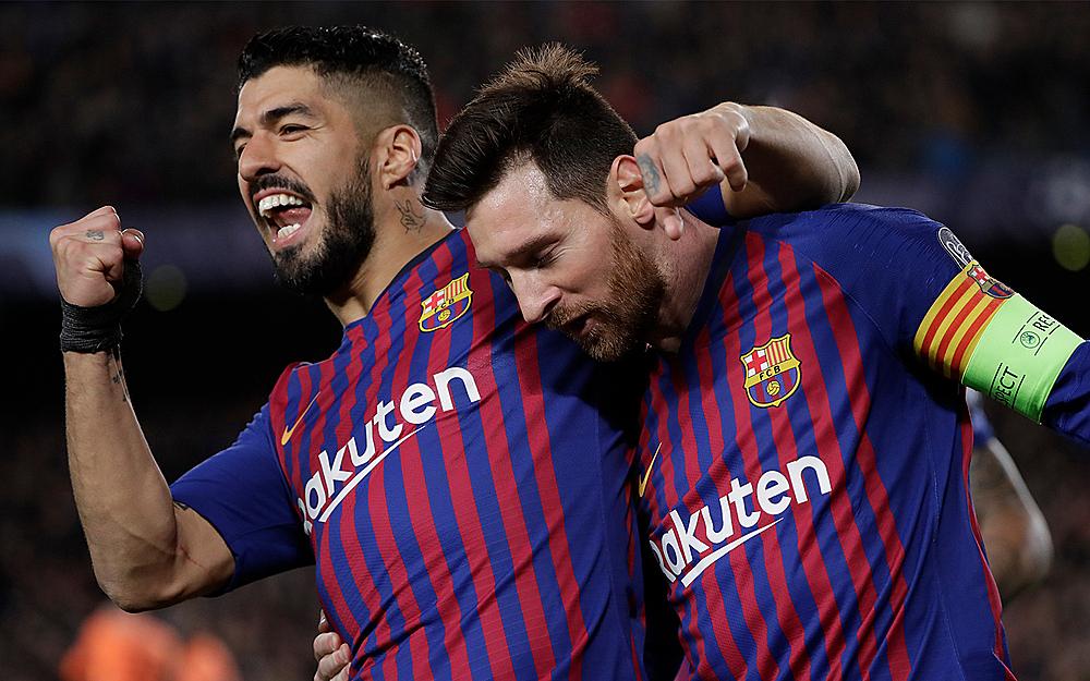 Suarez và Messi là bạn rất thân. Ảnh: AP.