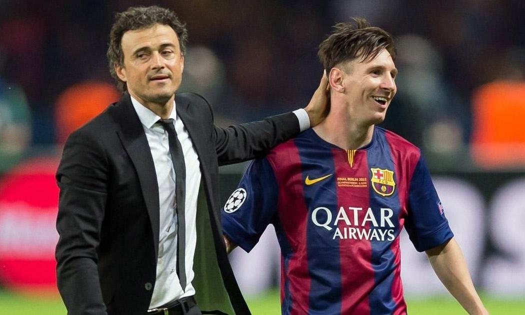 Enrique có ba năm làm việc cùng Messi, từ 2014 đến 2017. Ảnh: FCB.