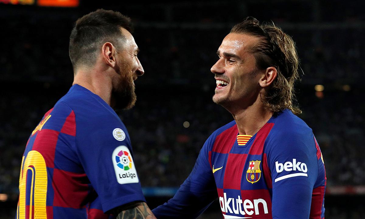 Griezmann (phải) nói rằng anh đã hiểu Messi hơn. Ảnh: Reuters