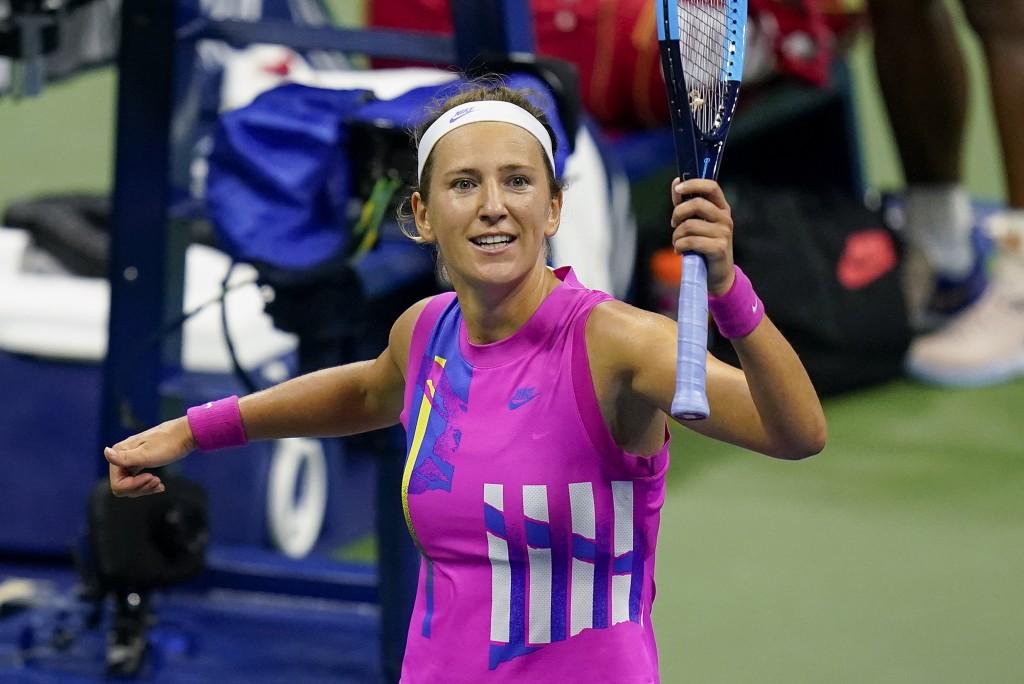 Azarenka trở lại chung kết Grand Slam sau bảy năm. Ảnh: AP.