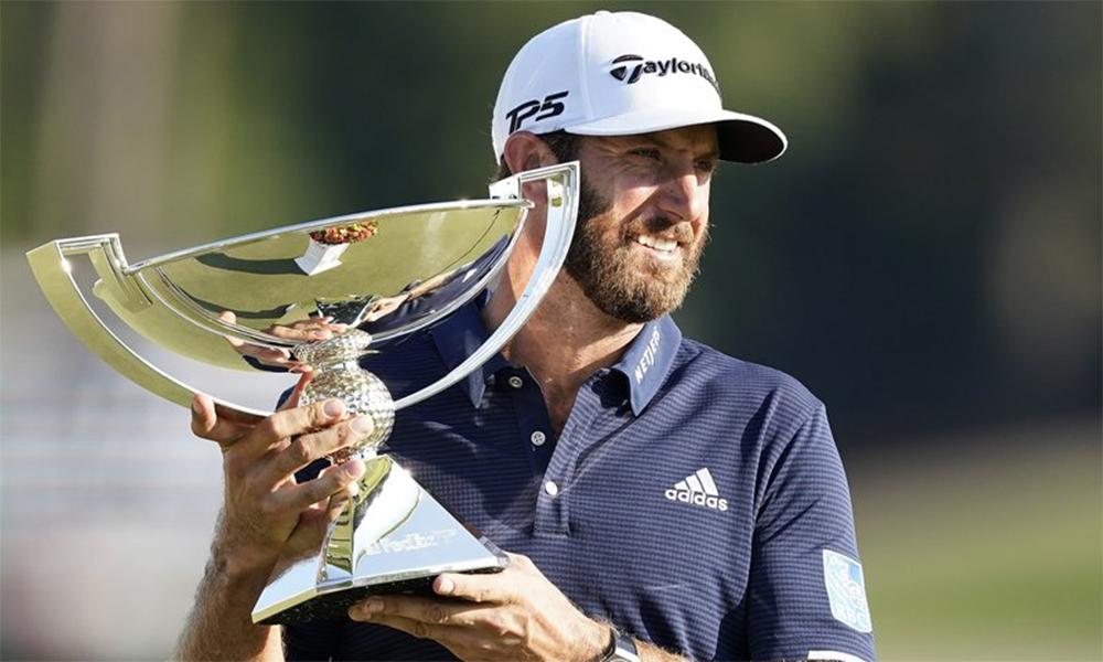 Chức vô địch FedEx Cup, trong chuỗi ba play-off mà anh thi đấu tốt, giúp Johnson được PGA Tour vinh danh. Ảnh: AP