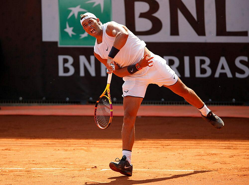 Nadal đến Rome từ sớm để chuẩn bị cho mùa đất nện. Ảnh: ES.