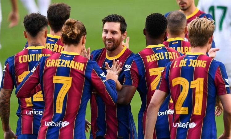 Griezmann có bàn thứ hai trong giai đoạn chuẩn bị cho mùa giải mới. Ảnh: Marca.