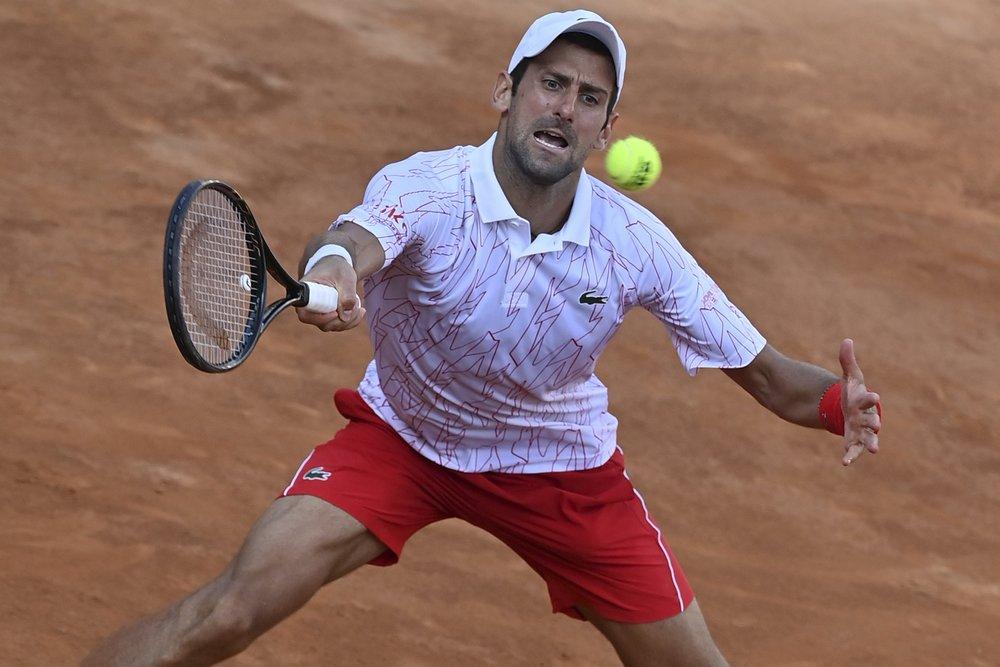 Djokovic có 12 cú ace ở trận gặp Ruud. Ảnh: AP.