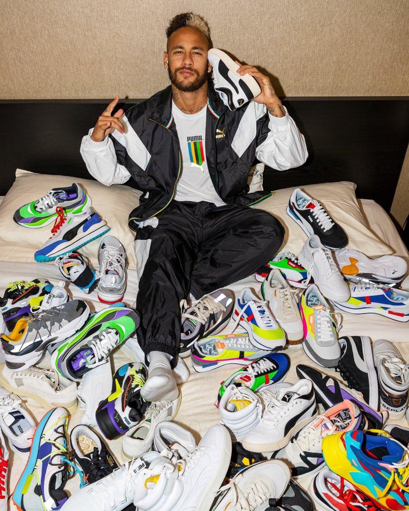 Neymar xuất hiện cùng các sản phẩm của Puma trong một bài đăng trên Twitter mới đây. Ảnh: Puma.