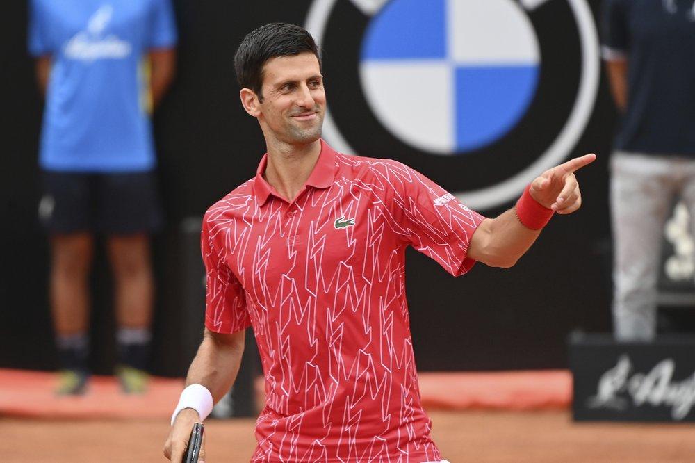 Chức vô địch Rome Masters giúp Djokovic hưng phấn trước thềm Roland Garros. Ảnh: AP.