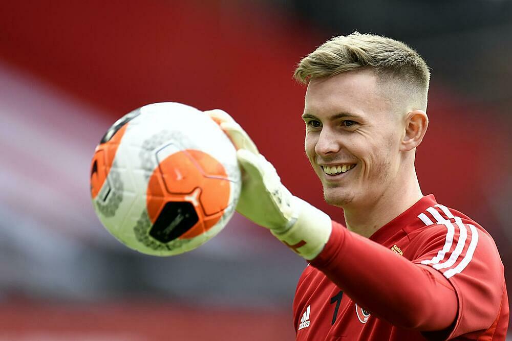 Henderson được nhiều CLB lớn quan tâm trong mùa hè qua, nhưng chọn gắn bó với Man Utd. Ảnh: PA.