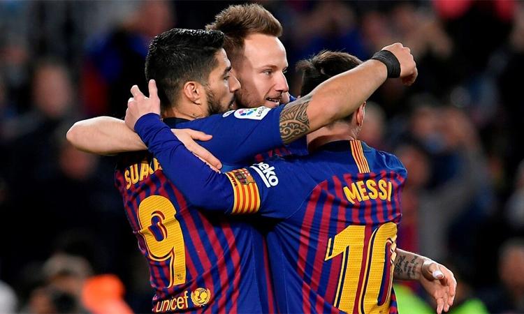 Rakitic thừa nhận chưa bao giờ thân thiết với Messi và Suarez trong 6 năm đá cho Barca. Ảnh: AFP.