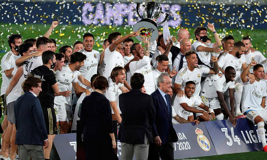 Cầu thủ Real Madrid tiết kiệm cho đội bóng khoảng 66 triệu USD lương, thưởng mùa 2019-2020. Ảnh: COPE