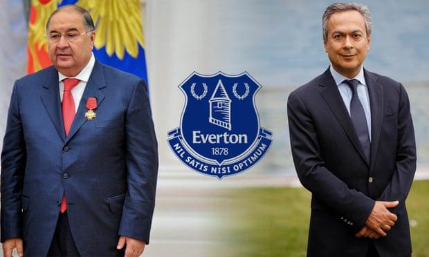 Usmanov (trái) được cho là hậu thuẫn Moshiri ở Everton. Ảnh: AP