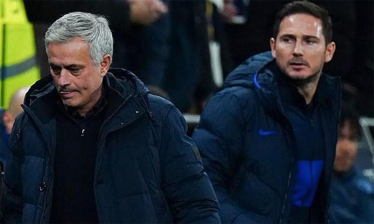 Mourinho thất bại trong hai lần đối đầu Lampard ở mùa trước. Ảnh: REX.