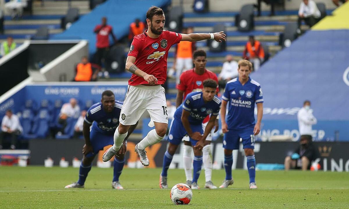 Bruno Fernandes đã ghi 12 bàn cho Man Utd, gồm tám bàn phạt đền. Ảnh: Reuters