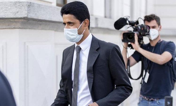 Al-Khelaifi ra tòa ở Thụy Sĩ hôm 24/9. Ảnh: EFE.