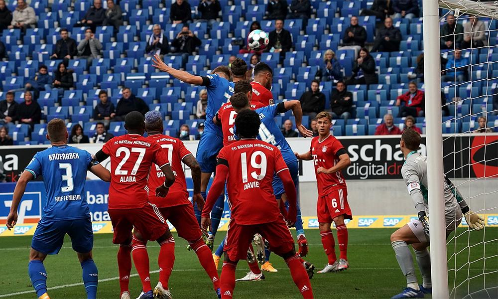 Hoffenheim mở tỷ số ở phút 16 từ một quả phạt góc. Ảnh: Bundesliga