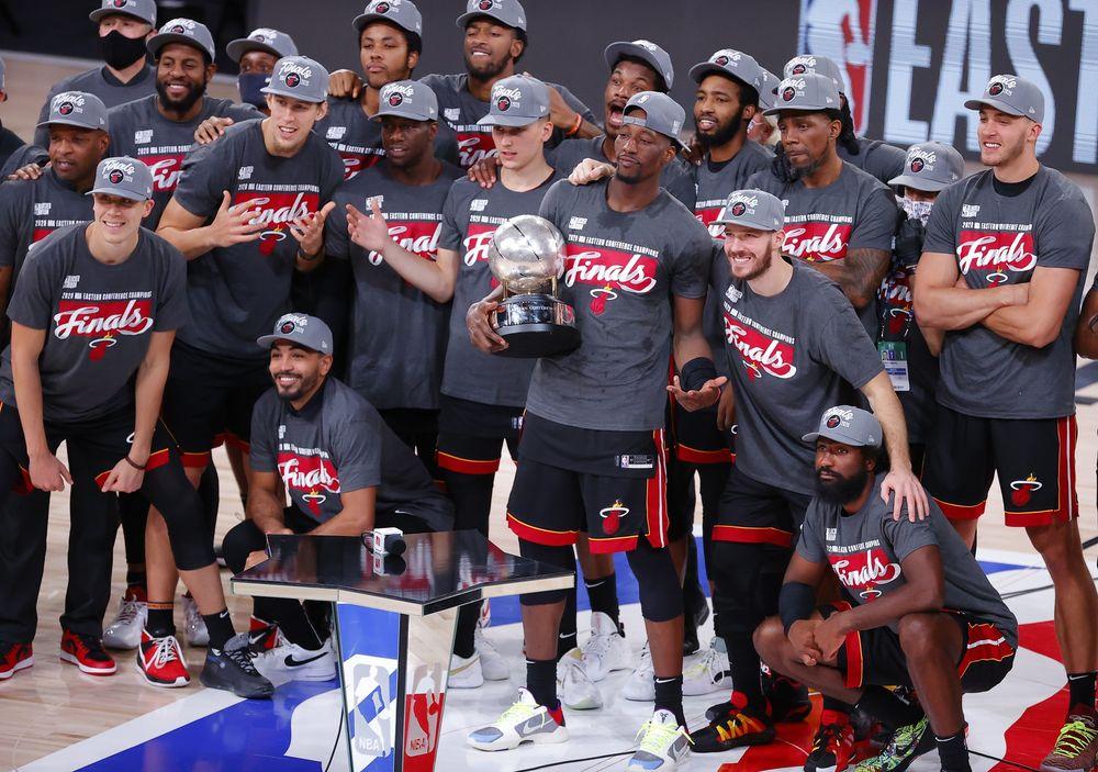 Miami Heat trở lại chung kết NBA lần đầu kể từ năm 2014. Ảnh: AP.
