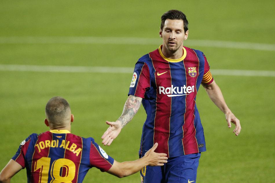 Messi mừng bàn thắng trong trận ra quân La Liga cuối tuần trước, đè bẹp Villarreal 4-0. Ảnh: Reuters.