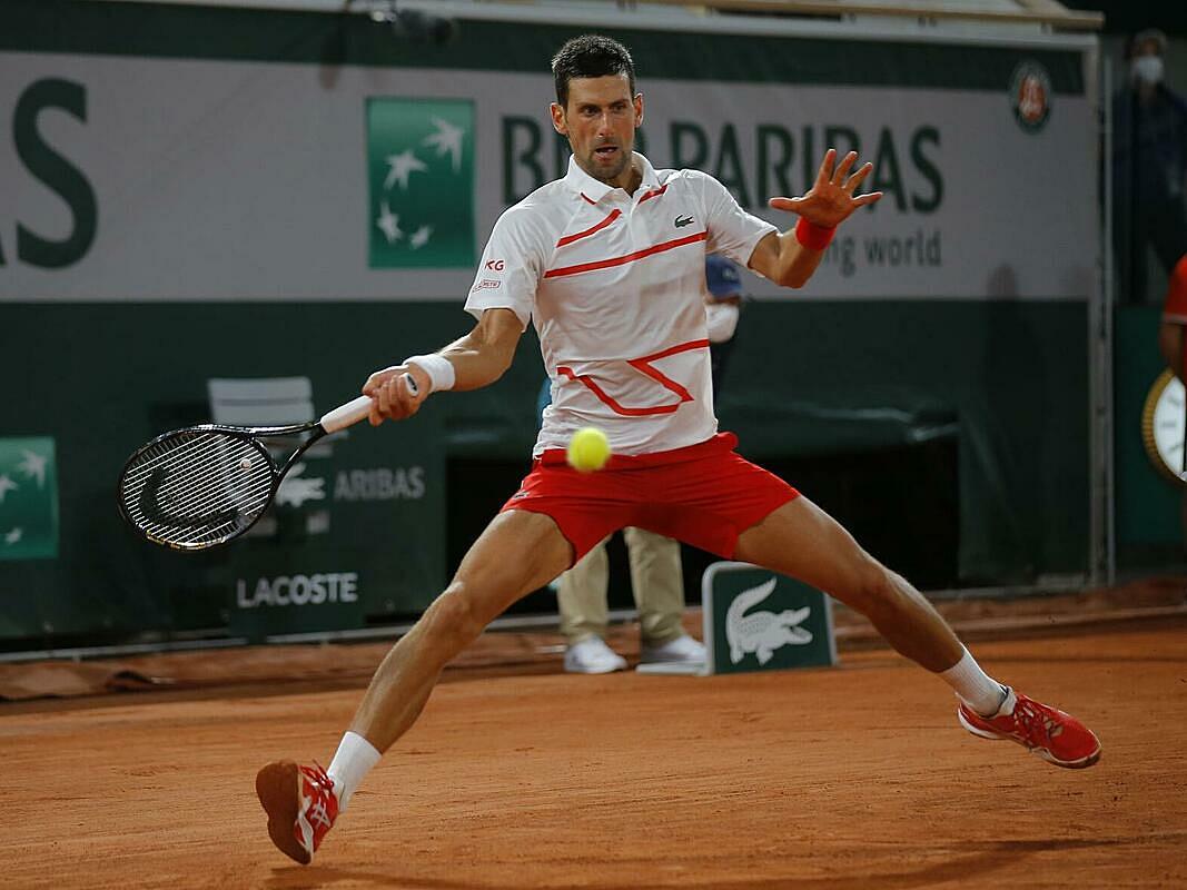 Djokovic mới thua bốn game tại giải. Ảnh: AP.