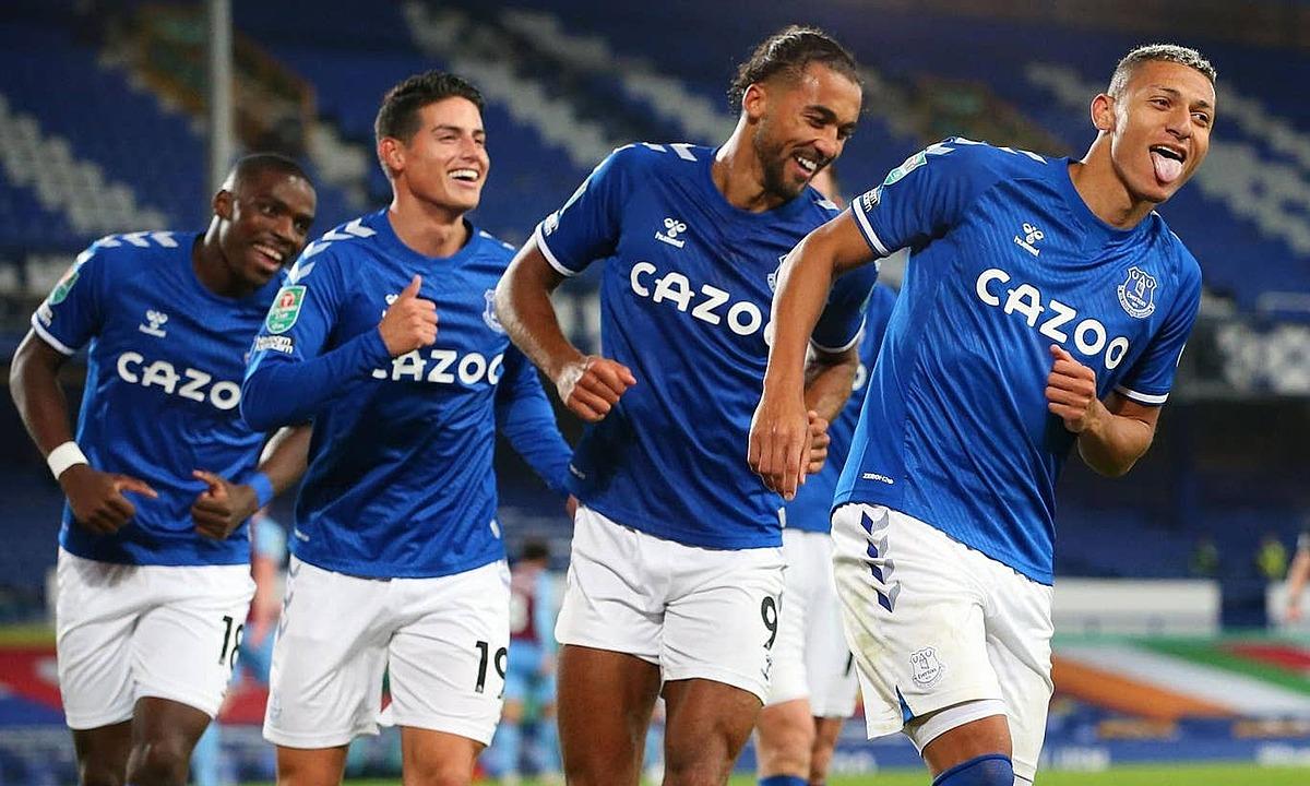 Everton đang giữ chuỗi thắng dài nhất ở Ngoại hạng Anh. Ảnh: Reuters