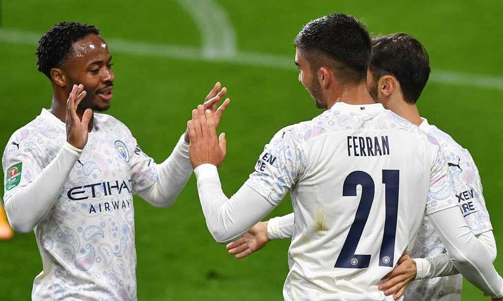 Ferran Torres dần hòa nhập với Man City. Ảnh: Reuters