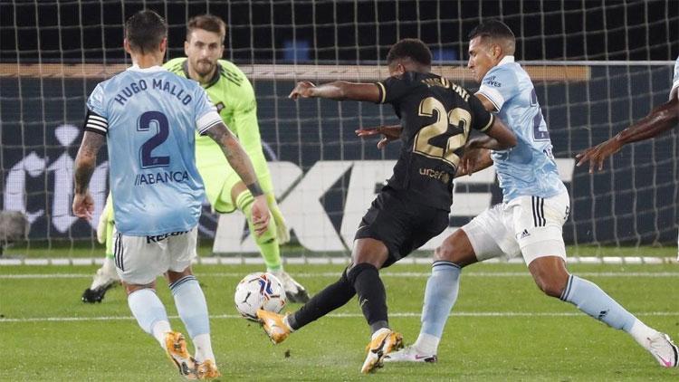 Fati sở hữu ba bàn chỉ trong hai trận đầu mùa. Ảnh: EFE.