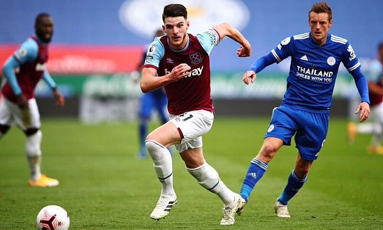 Vardy mờ nhạt trong ngày bị hàng thủ West Ham cô lập. Ảnh: West Ham United.