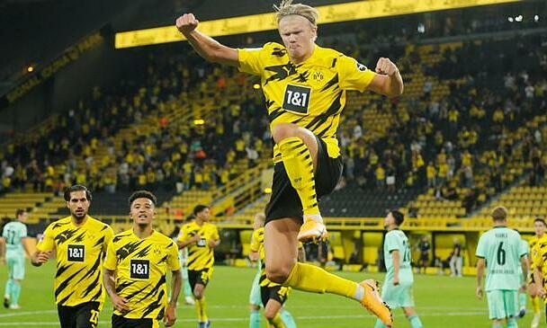 Haaland đã ghi 15 bàn trong 16 trận ở Bundesliga. Ảnh: Reuters