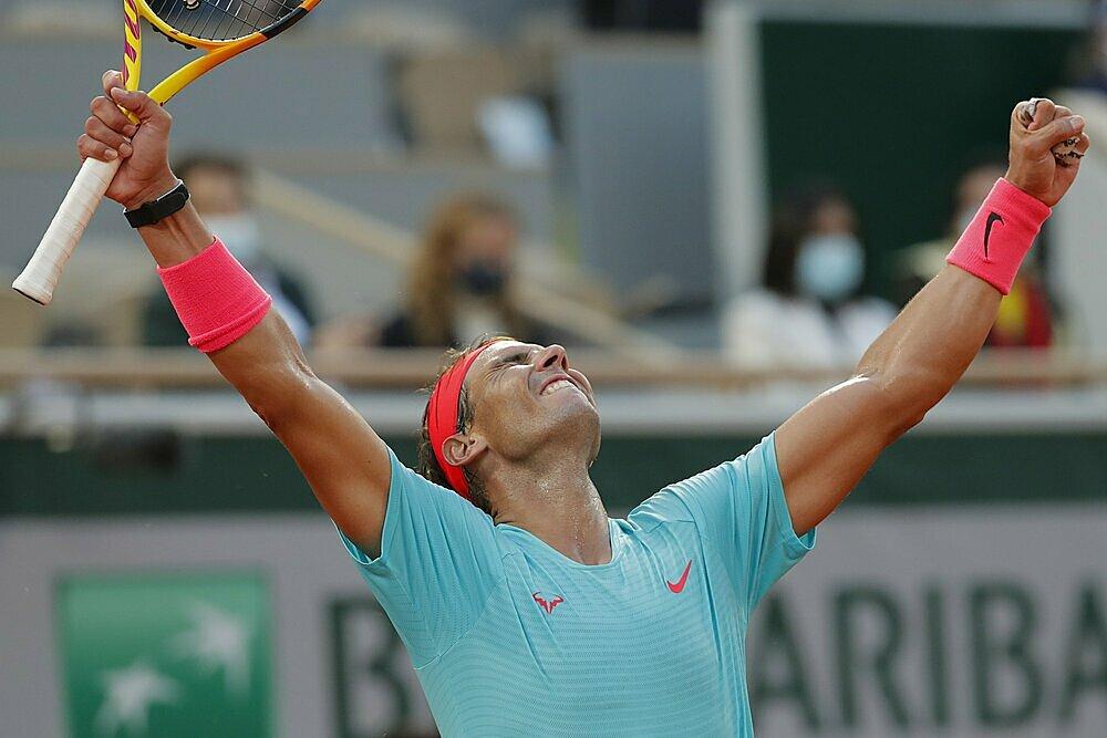 Nadal chưa từng thua ở chung kết Roland Garros. Ảnh: AP.