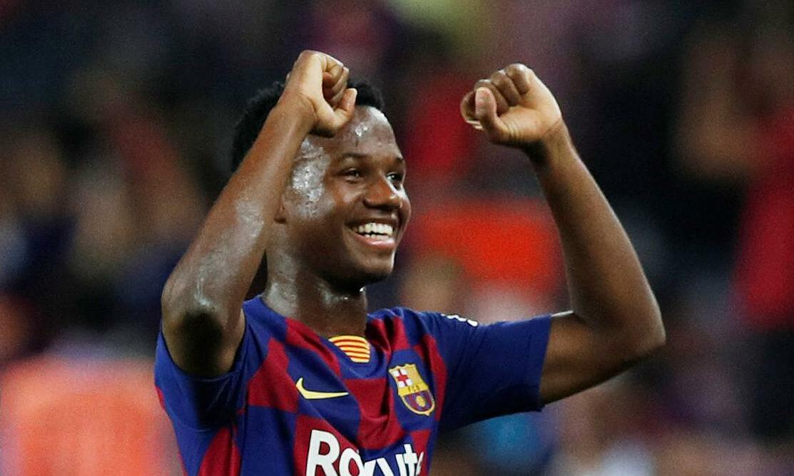 Ansu Fati được chấm điểm trung bình cao nhất La Liga kể từ đầu mùa, với 8,13 điểm. Ảnh: Reuters