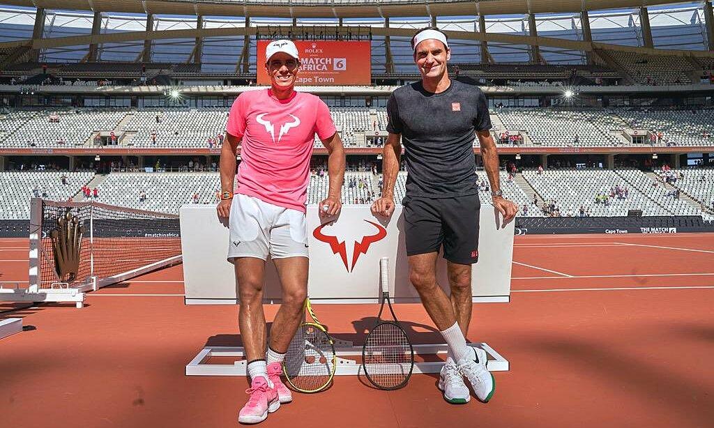 Tấm ảnh Federer (phải) đăng trên các mạng xã hội để chúc mừng Nadal. Ảnh: Twitter/@RogerFederer