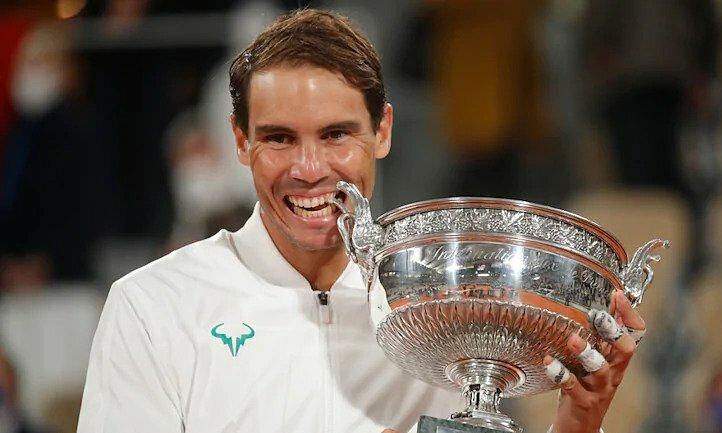 Nadal thắng cả 13 trận chung kết Roland Garros đã tham dự. Ảnh: Reuters