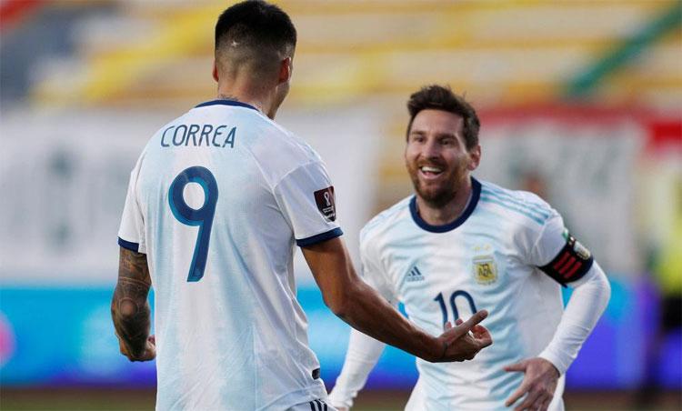 Argentina giành trọn sáu điểm sau hai trận đầu vòng loại. Ảnh: Reuters.