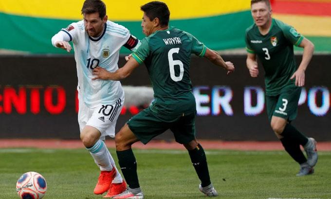 Messi và đồng đội giành trọn sáu điểm từ hai trận đầu vòng loại World Cup 2022. Ảnh: Reuters.