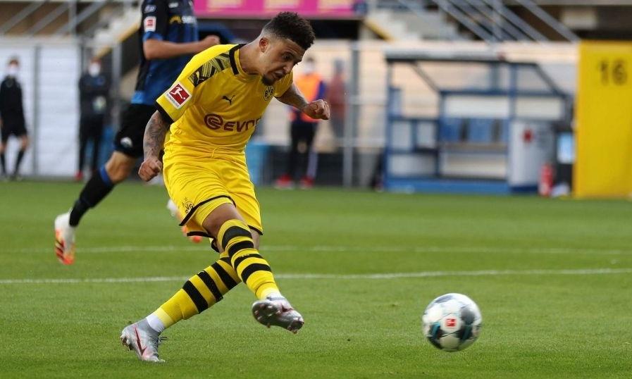 Sancho là Cầu thủ hay nhất giải u17 châu Âu 2017 khi giúp Anh vào tới chung kết. Ảnh: AFP.