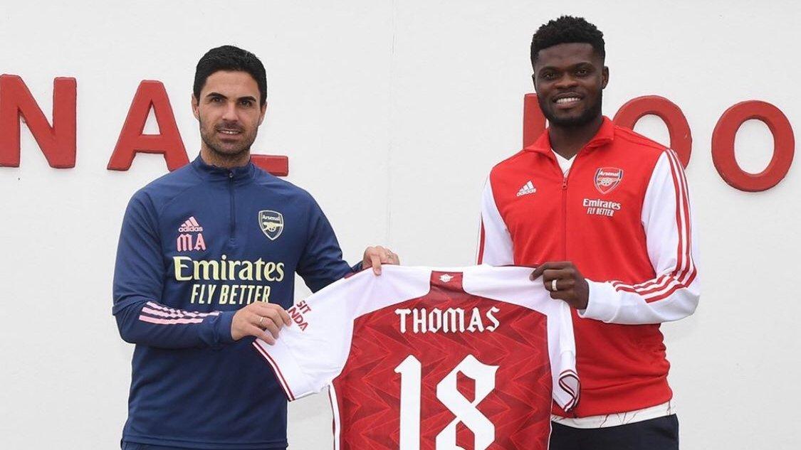 Partey ấn tượng với kế hoạch giàu tham vọng mà Arteta phác ra cho anh và Arsenal. Ảnh: AFC
