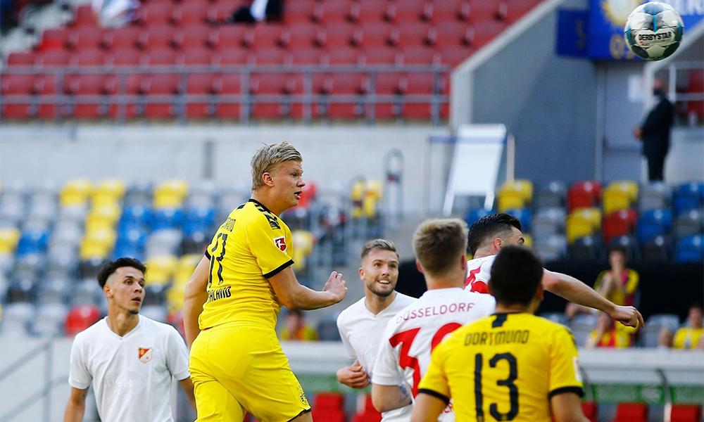 Haaland đã có 14 bàn qua 15 trận khoác áo Dortmund trên mọi đấu trường. Ảnh: BVB.