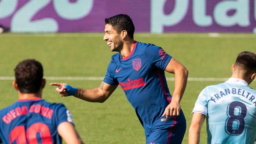 Suarez mừng bàn mở tỷ số - bàn thắng 150 của anh tại La Liga. Ảnh: La Liga