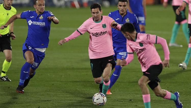 Messi mới chỉ ghi một bàn trong bốn trận đầu La Liga mùa này. Ảnh: AP.