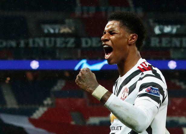 Rashford mừng bàn ấn định chiến thắng 2-1 cho Man Utd trên sân của PSG tối 20/10. Ảnh: Reuters.