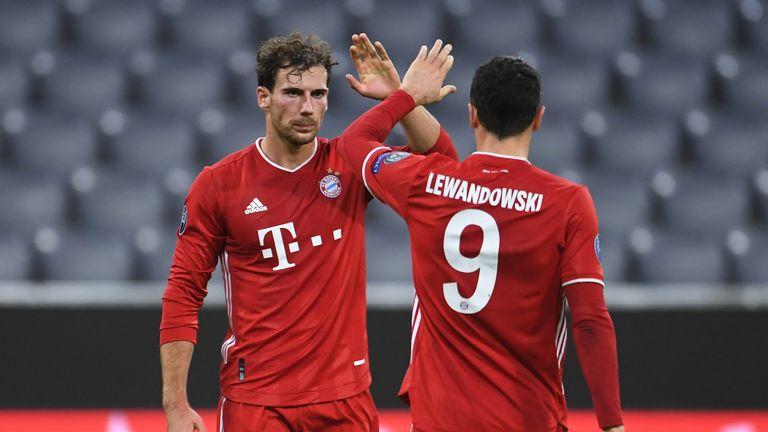 Bayern sút trúng hướng cầu môn năm lần và ghi được bốn bàn vào lưới Atletico Madrid. Ảnh: Sky.