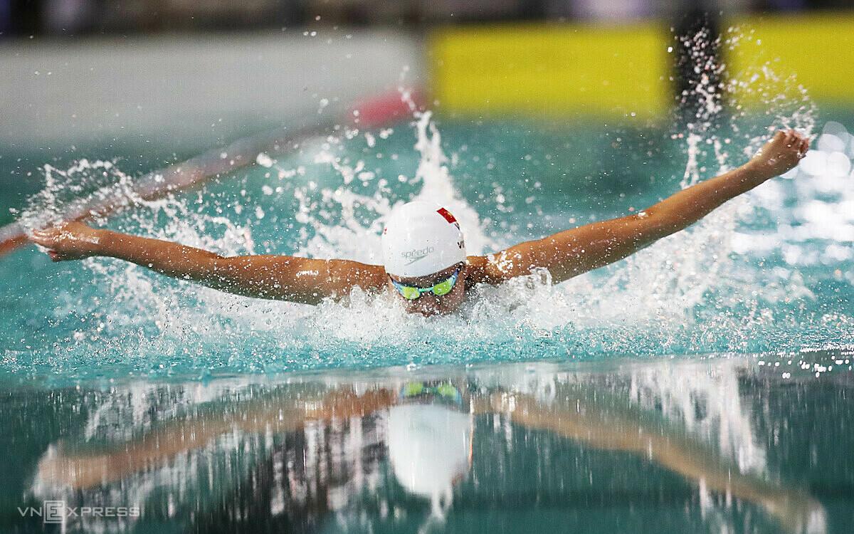 Ánh Viên thất bại ở cả ba nội dung chung kết bơi bướm. Ảnh: Đức Đồng.